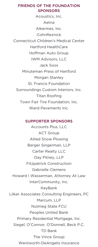 Our Generous Supporters | Jordan Porco Foundation